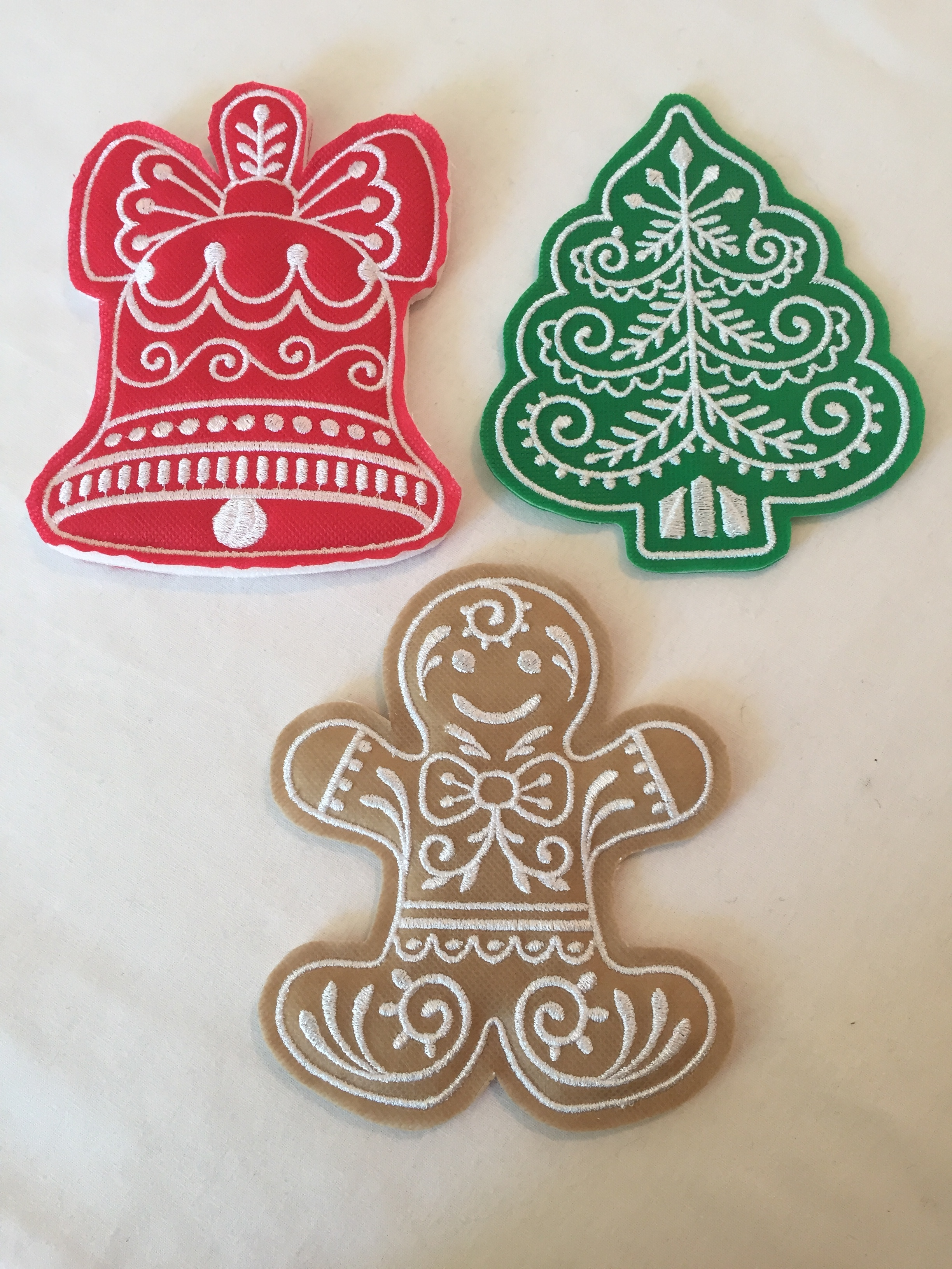 "Machine Embroidery Designs by ""Embroidery Library"" -Gingerbread Cookies in-the-hoop"