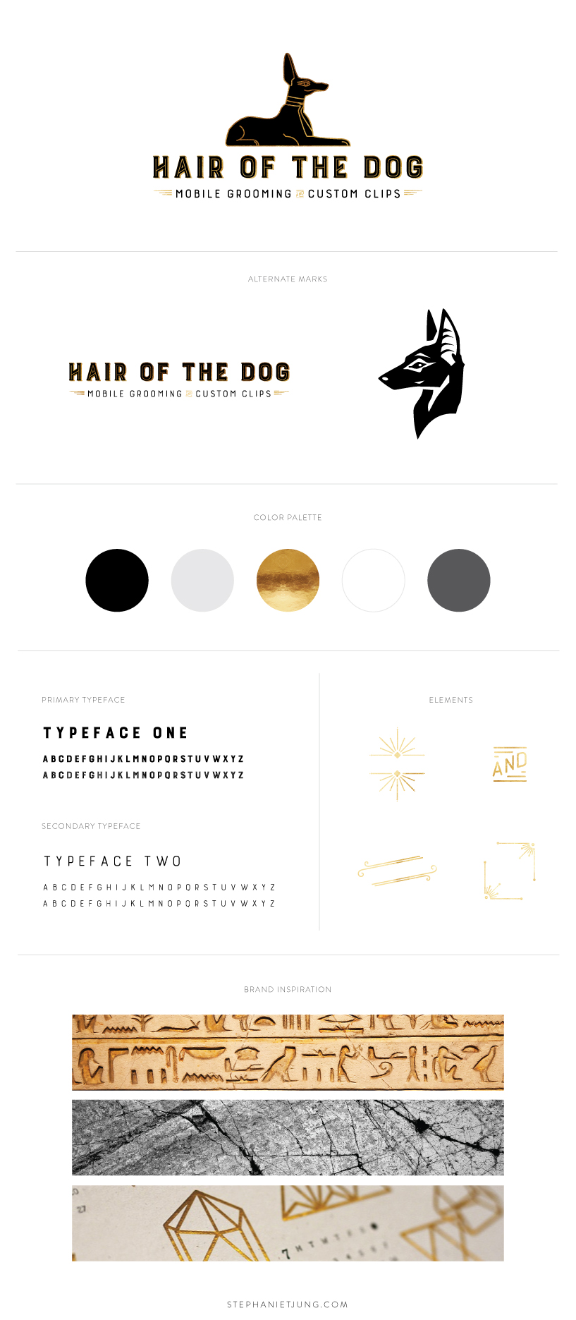 Hair of the Dog Mobile Grooming Salon Branding by Stephanie Jung