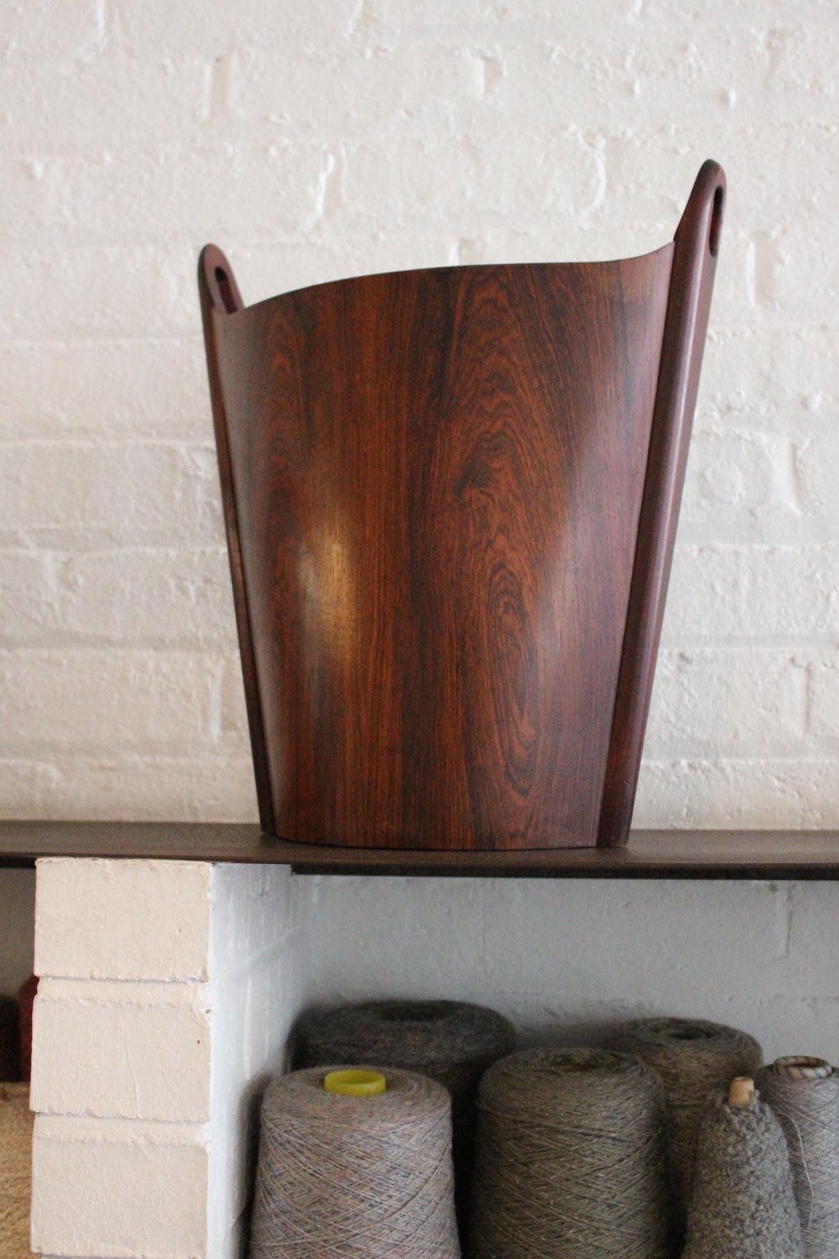 P S Heggen rosewood wastepaper bin