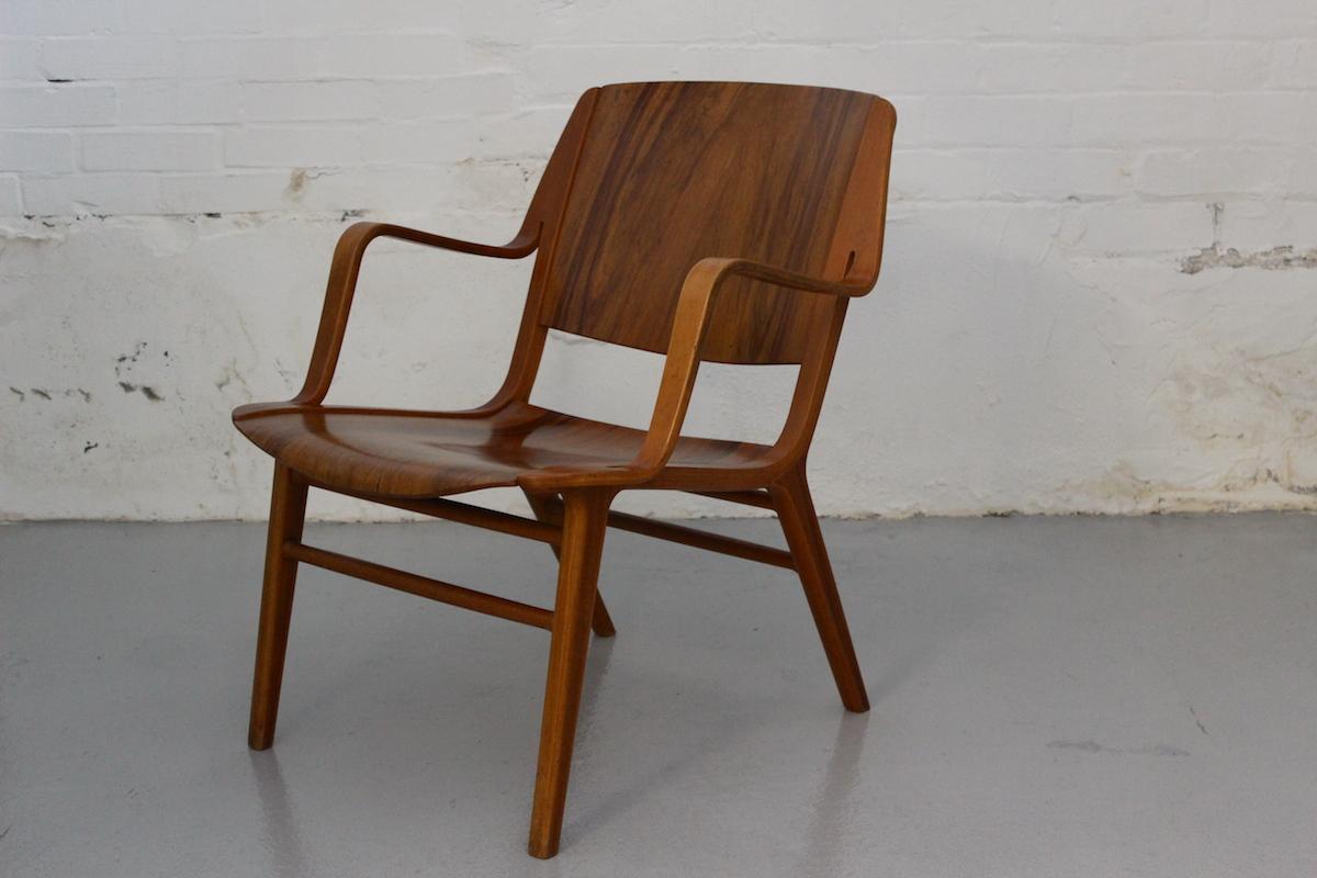 Peter Hvidt & Orla Molgaard Nielsen AX lounge chair - manufactured by Fritz Hansen
