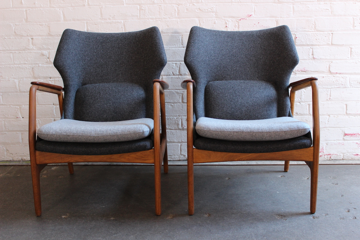 Pair of Bovenkamp lounge chairs - Aksel Bender Madsen