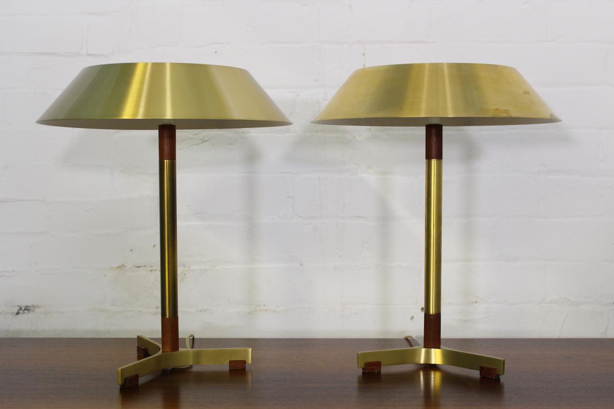 Pair of Johannes Hammerborg 'President' table lamps - Fog & Morup