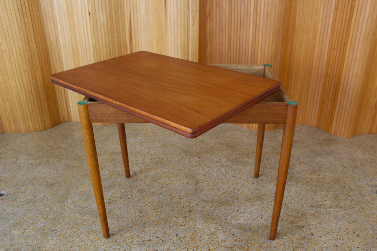 Hans Wegner folding card table / dining table - manufactured by Andreas Tuck