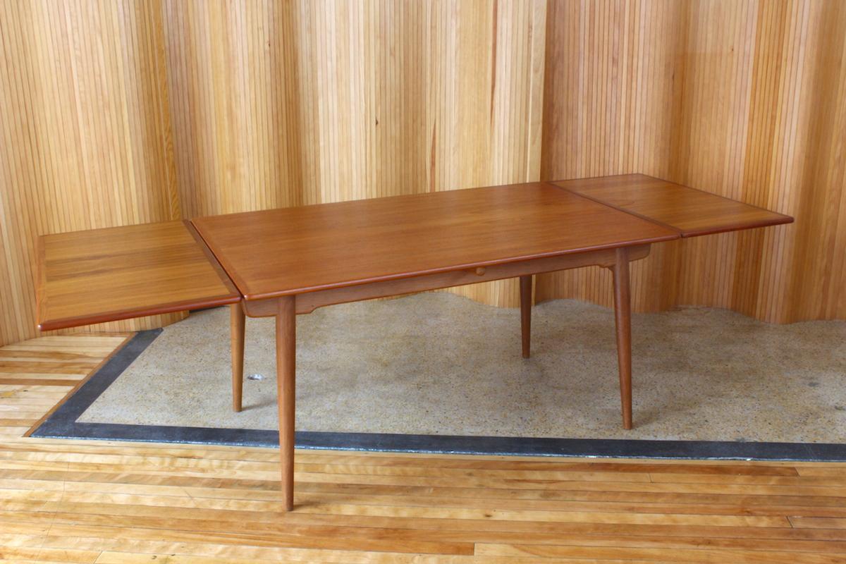 Hans Wegner teak/oak dining table - model AT312 - Andreas Tuck, Denmark.