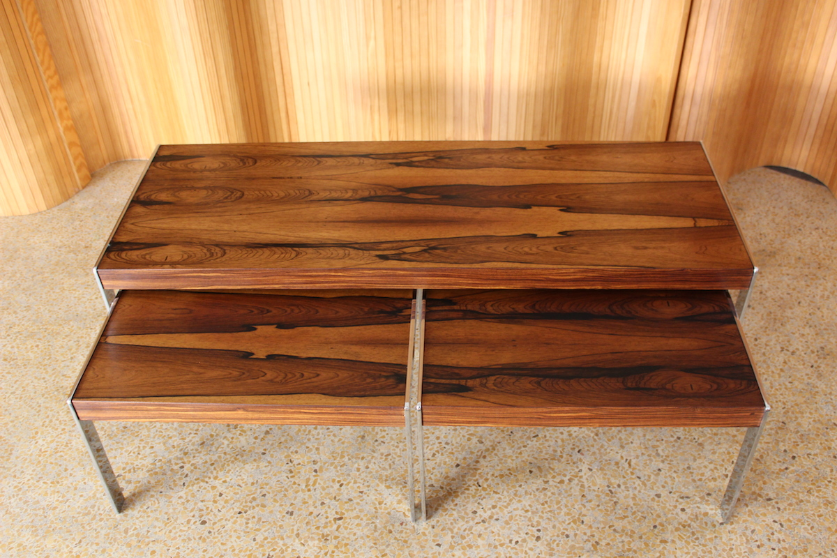 Merrow Associates rosewood nest of tables