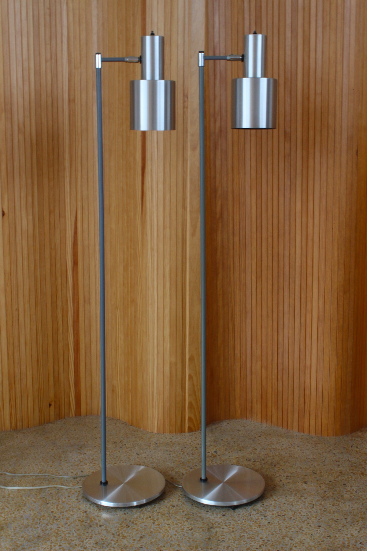 Pair of Johannes Hammerborg 'Studio' floor lamps - Fog & Morup