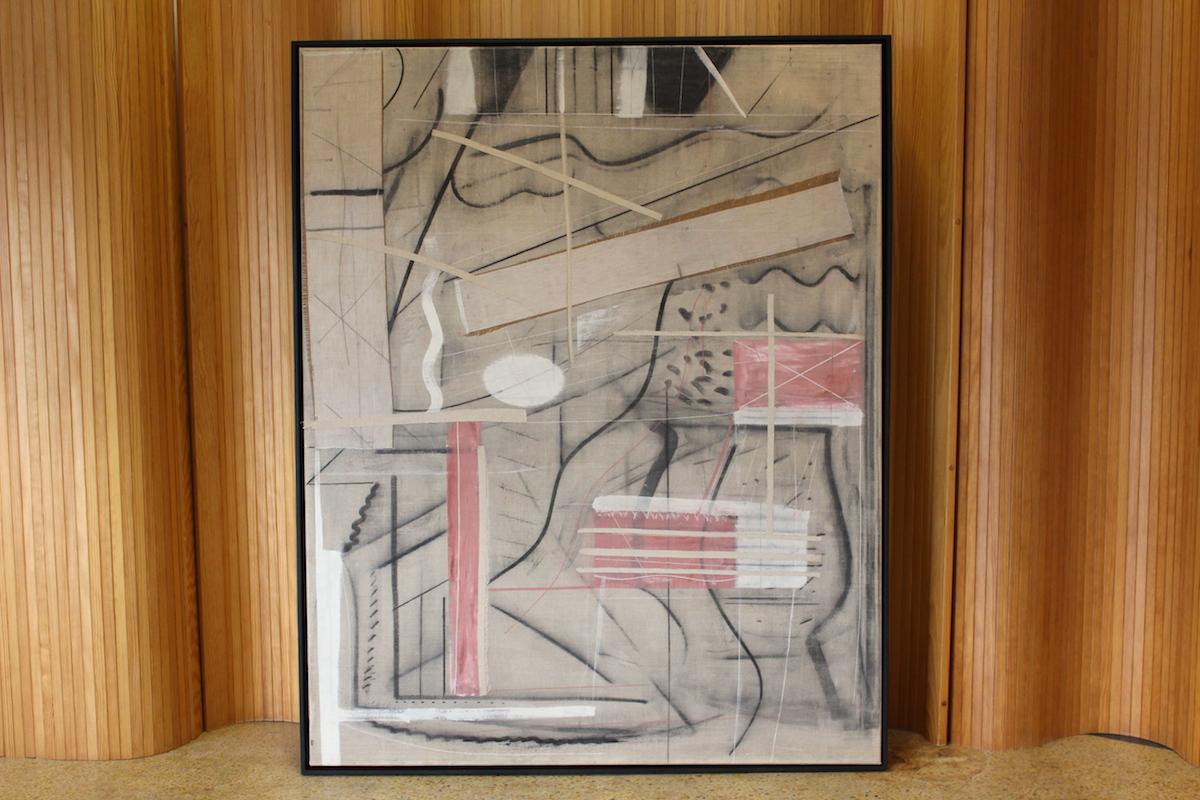 Jonathan Gibbs - 'Japan' - 1985 - acrylic and charcoal on linen.