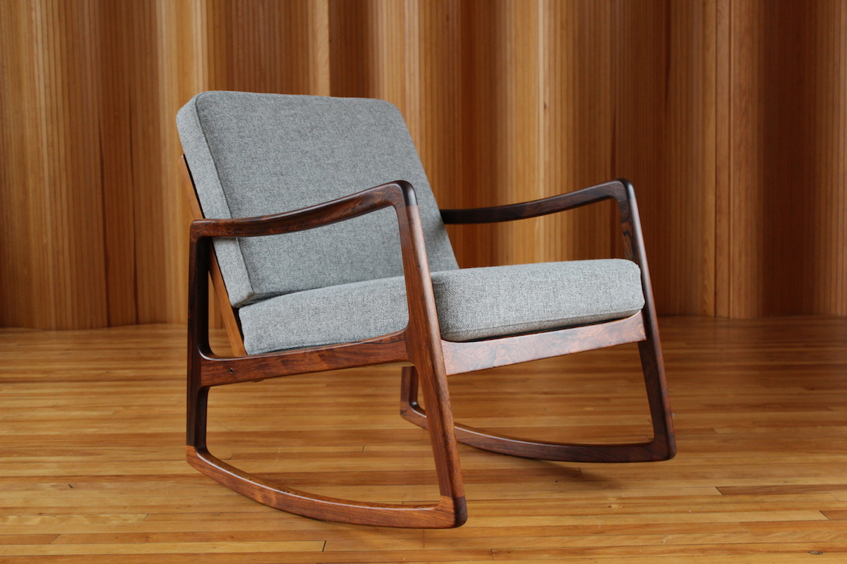 Ole Wanscher rosewood rocking chair - France & Son