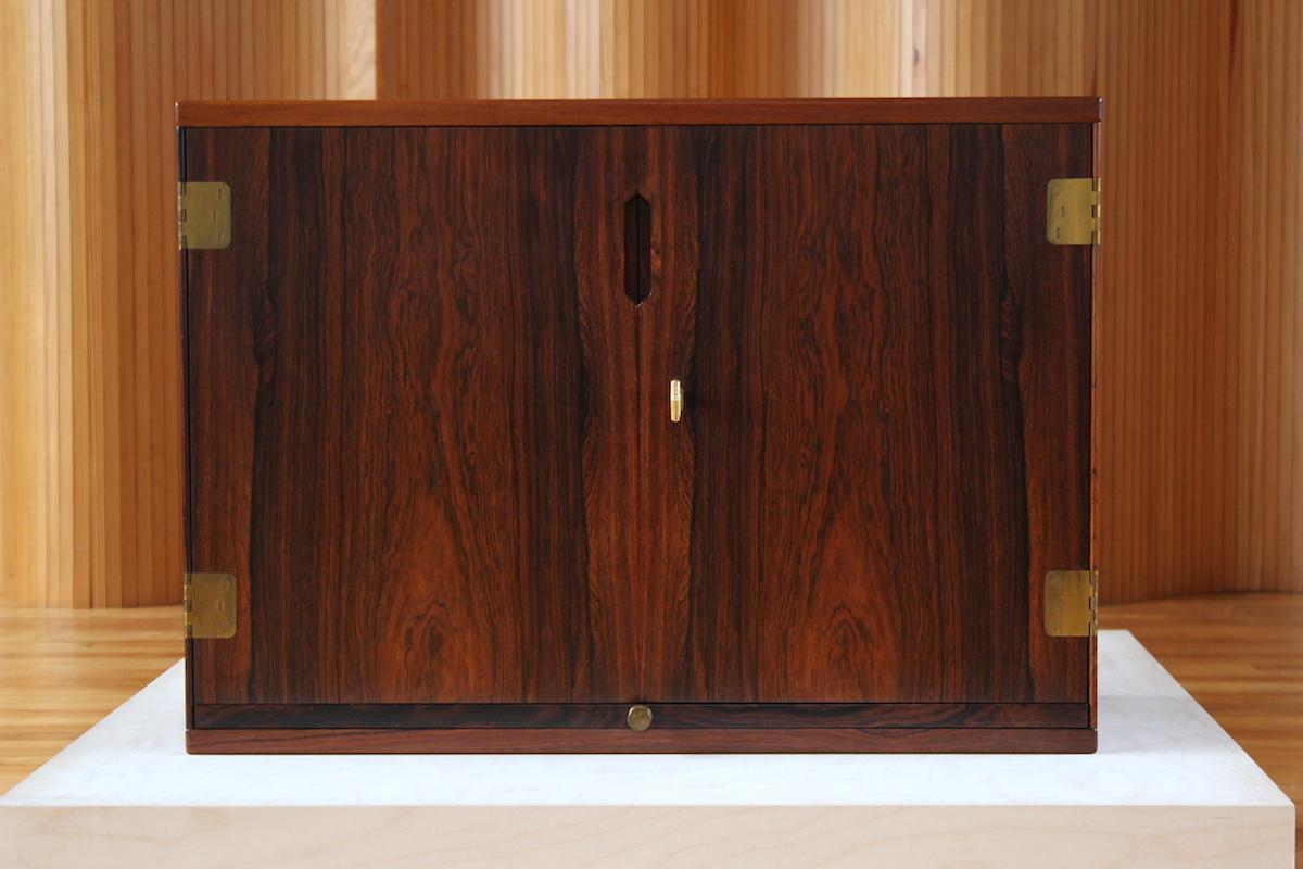 Svend Langkilde rosewood wall-mounted drinks cabinet - Langkilde Mobler, Denmark