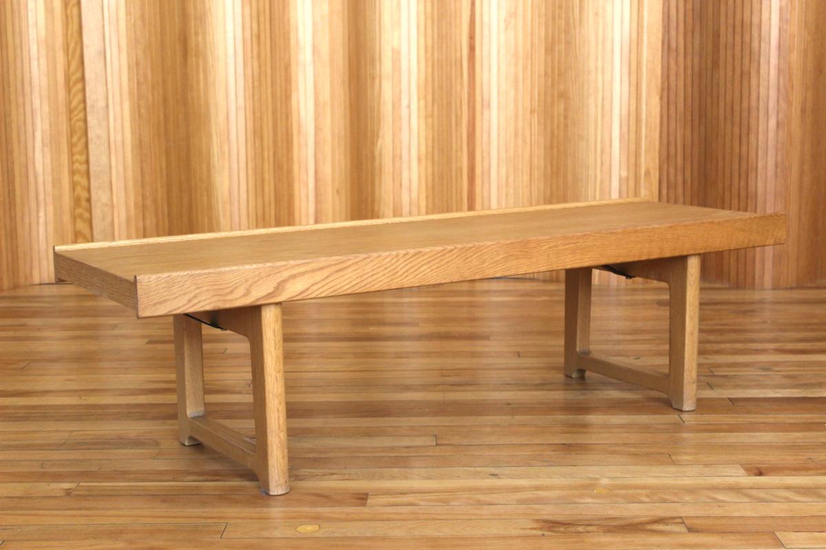 Torbjorn Afdal oak 'Krobo' bench - manufactured by Bruksbo, Norway.