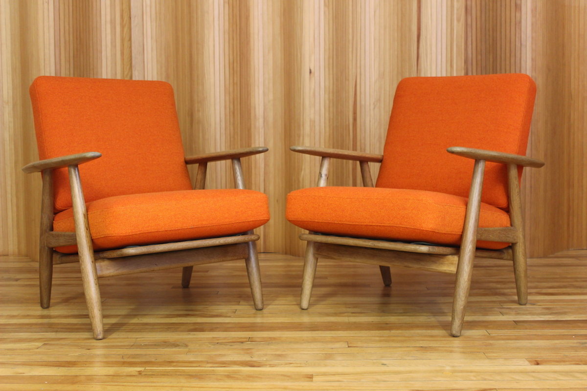 Hans Wegner 'cigar' chairs - model GE240 - Getama, Denmark