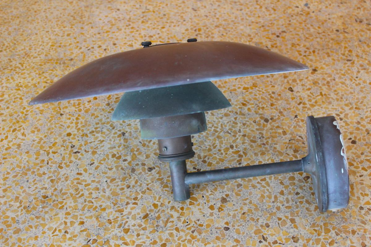Poul Henningsen PH4.5/3 copper outdoor wall light - Louis Poulsen