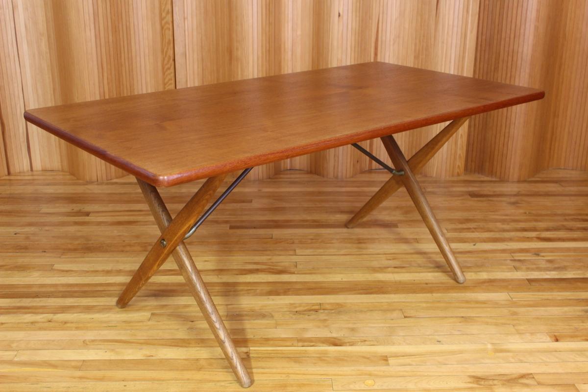 Hans Wegner AT303 oak and teak dining table Andreas Tuck Denmark
