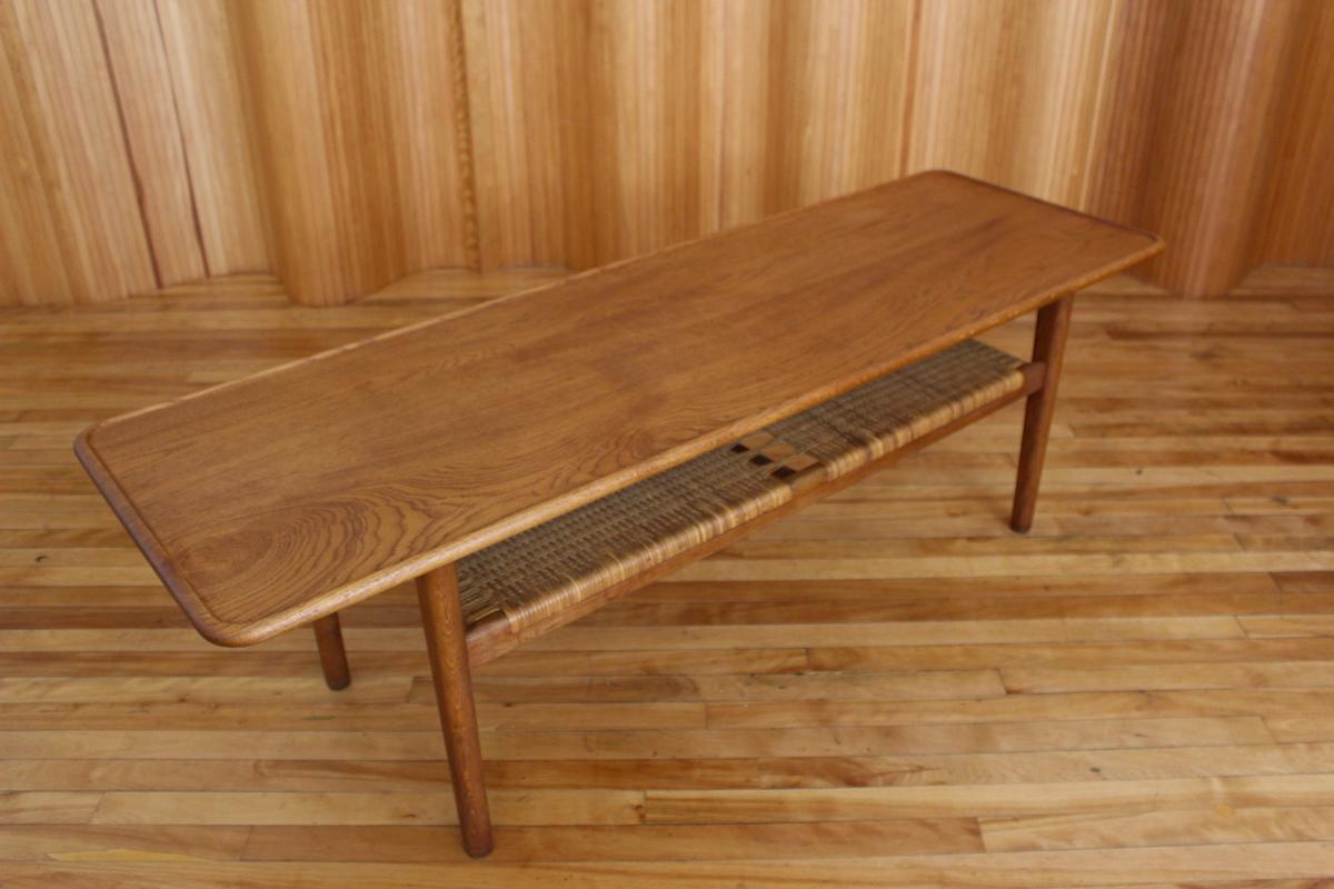 Hans Wegner AT10 oak coffee table Andreas Tuck Denmark