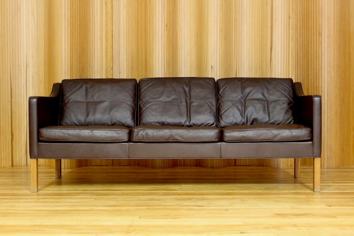 Borge Mogensen leather sofa - model 2423 - Fredericia, Denmark