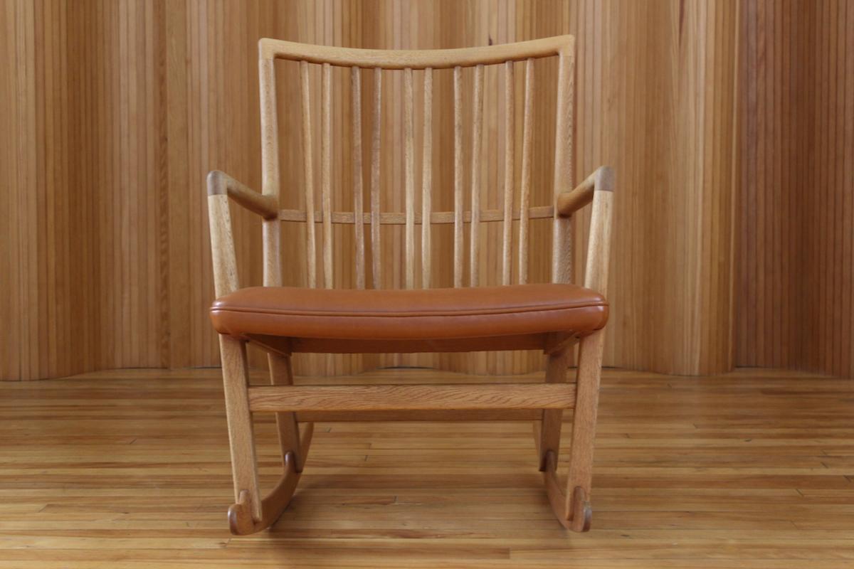 Hans Wegner ML33 rocking chair Mikkael Laursen Denmark 1942