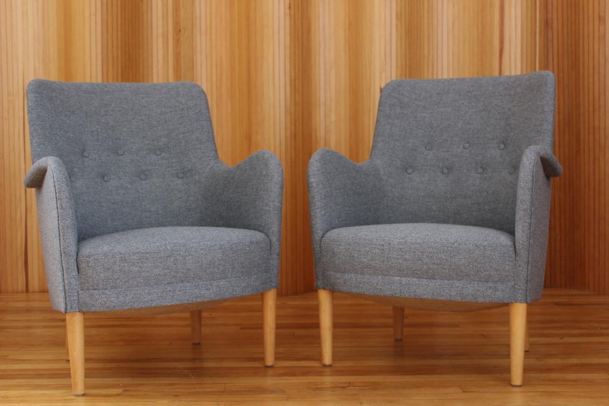 Pair of Carl Malmsten 'Konsert' chairs