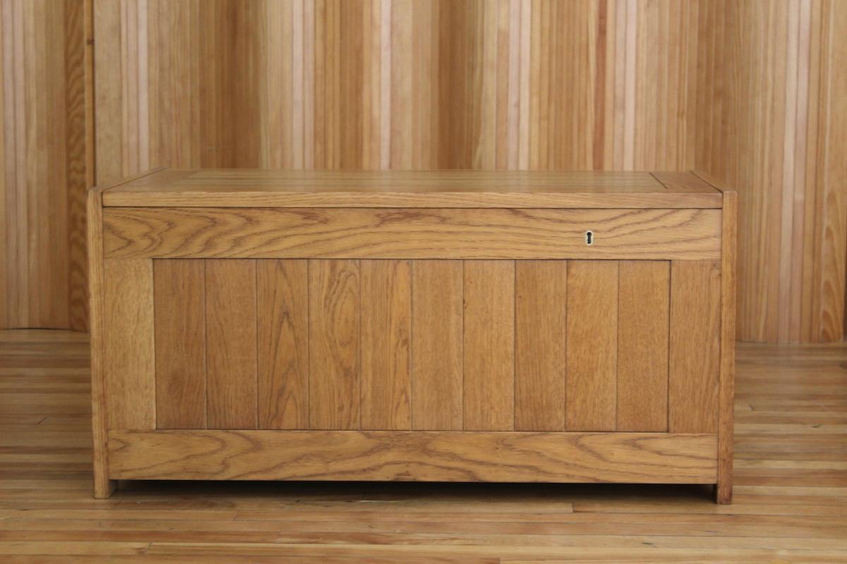 O Schjoll and BK Handest model 56 oak kist / blanket box Randers Denmark