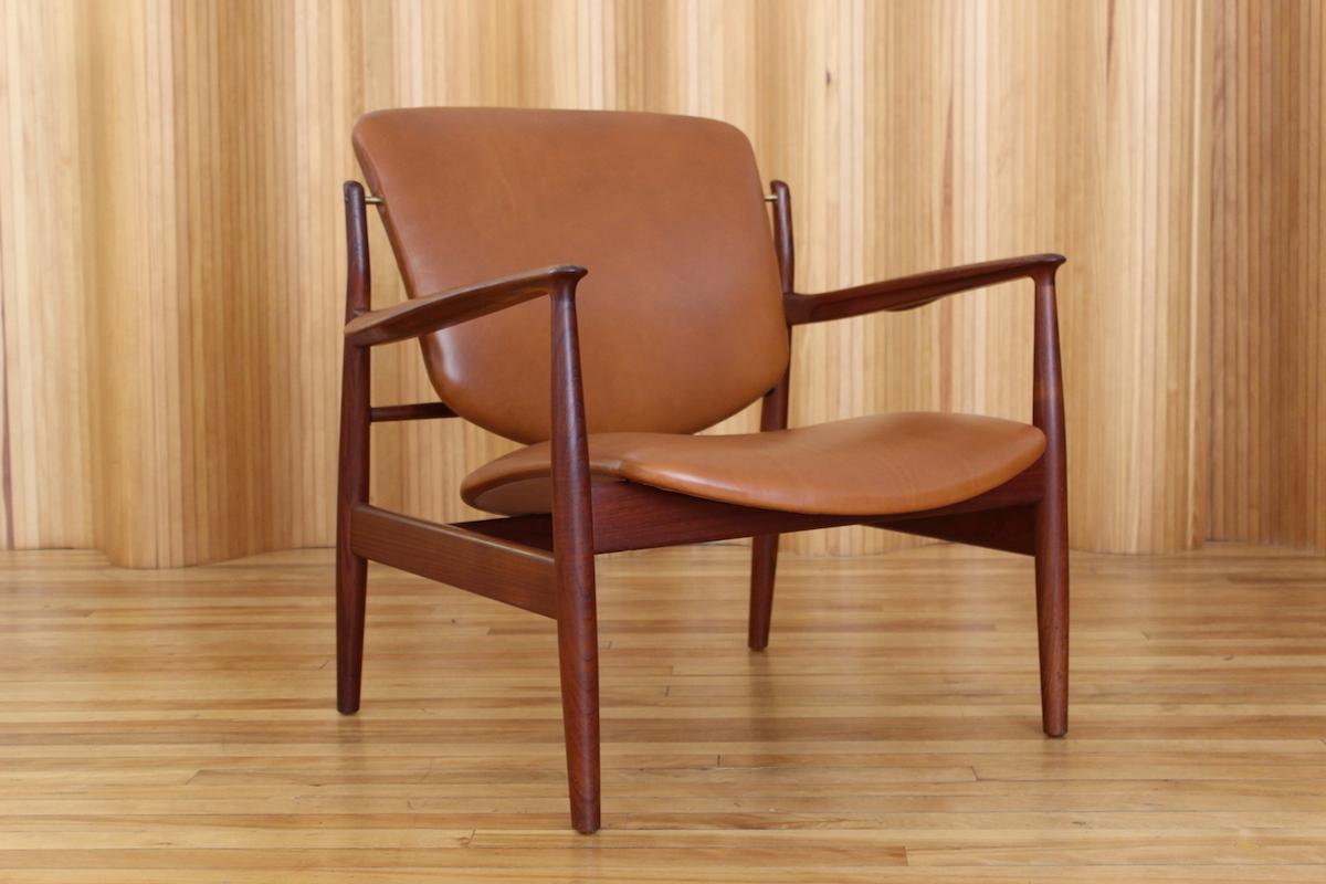 Finn Juhl model 136 lounge chair, France and Son, Denmark