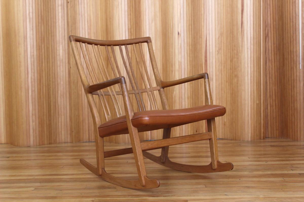 Hans Wegner ML33 rocking chair, Mikael Laursen, Denmark