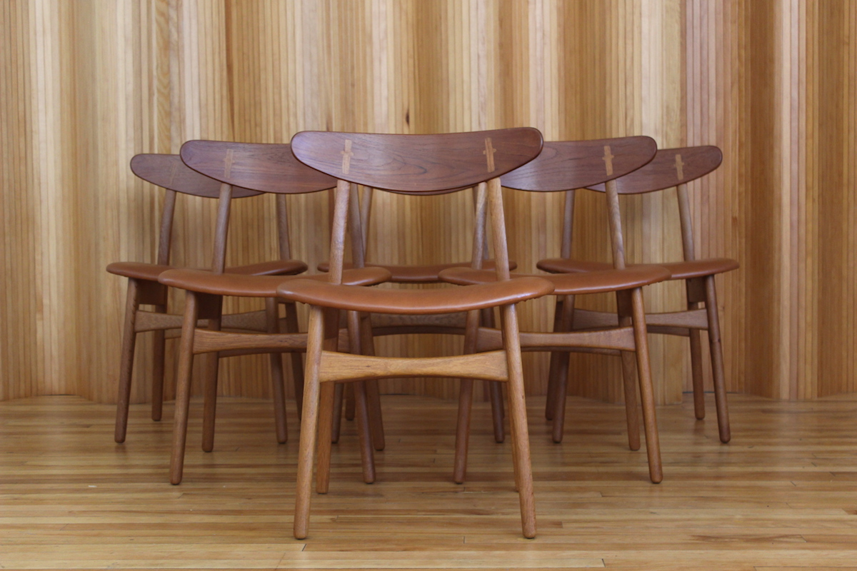 Set of six Hans Wegner CH30 dining chairs Carl Hansen & Son Denmark
