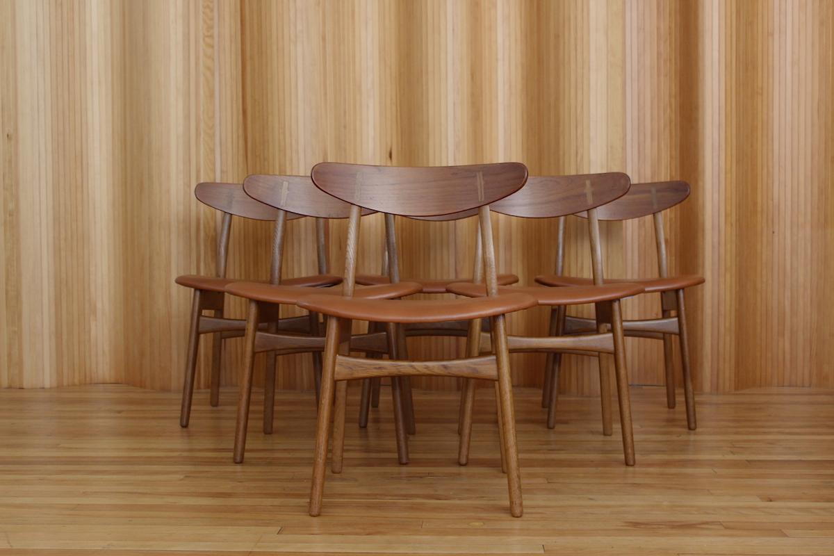 Set of six Hans Wegner CH30 dining chairs Carl Hansen and Son Denmark