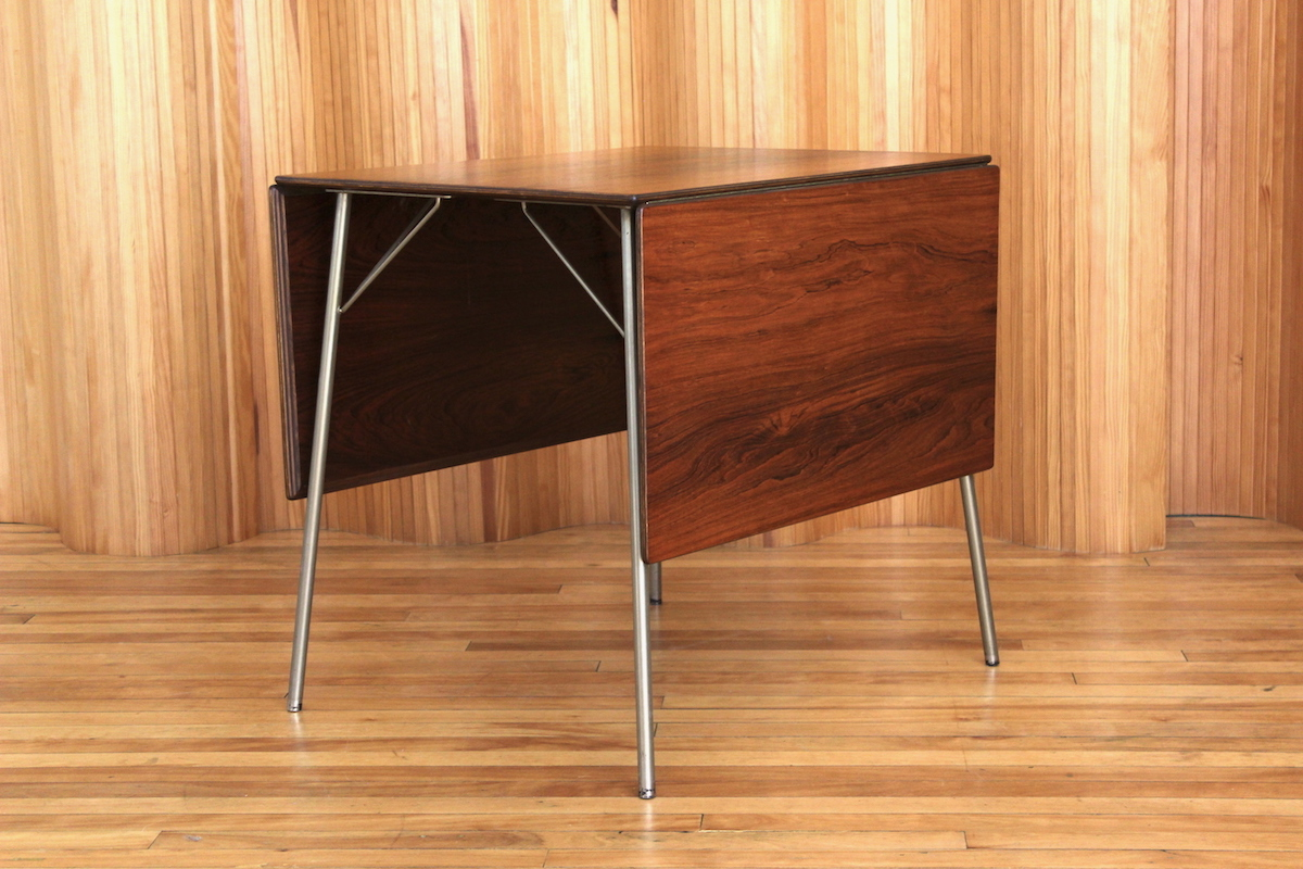 Arne Jacobsen rosewood breakfast table Fritz Hansen Denmark