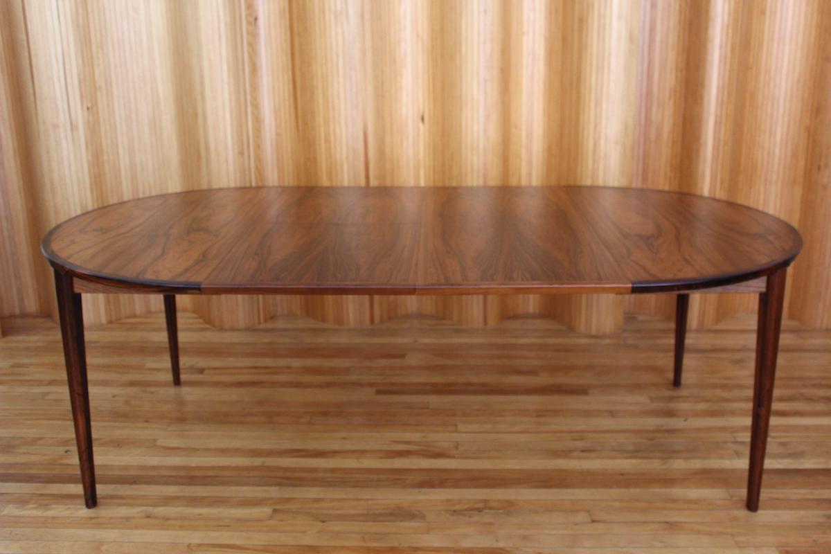 Henry Rosengren Hansen rosewood dining table Brande Mobelfabrik Denmark