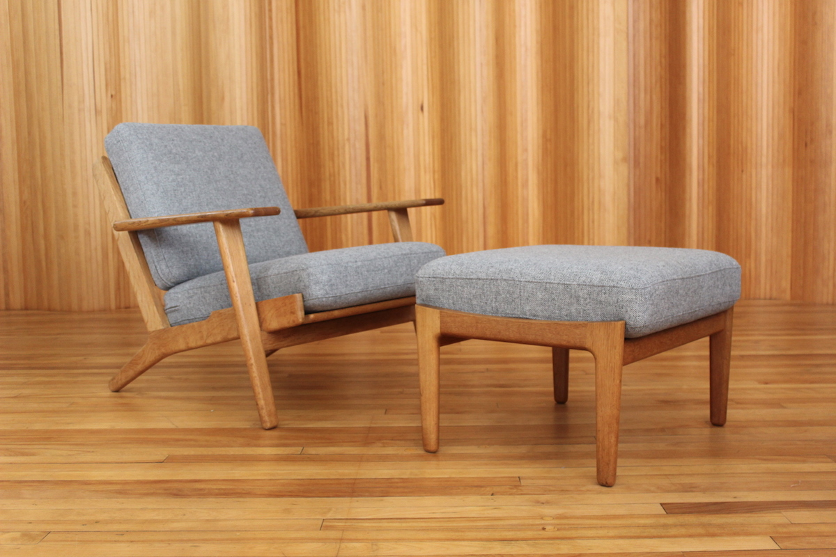 Hans Wegner GE-290 lounge chair and ottoman Getama Denmark