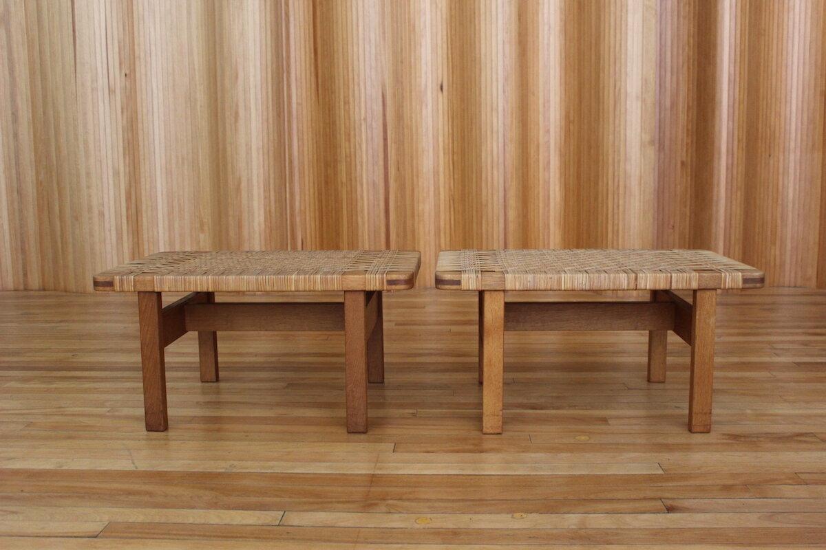 Pair of Borge Mogensen side tables Fredericia Stolefabrik Denmark