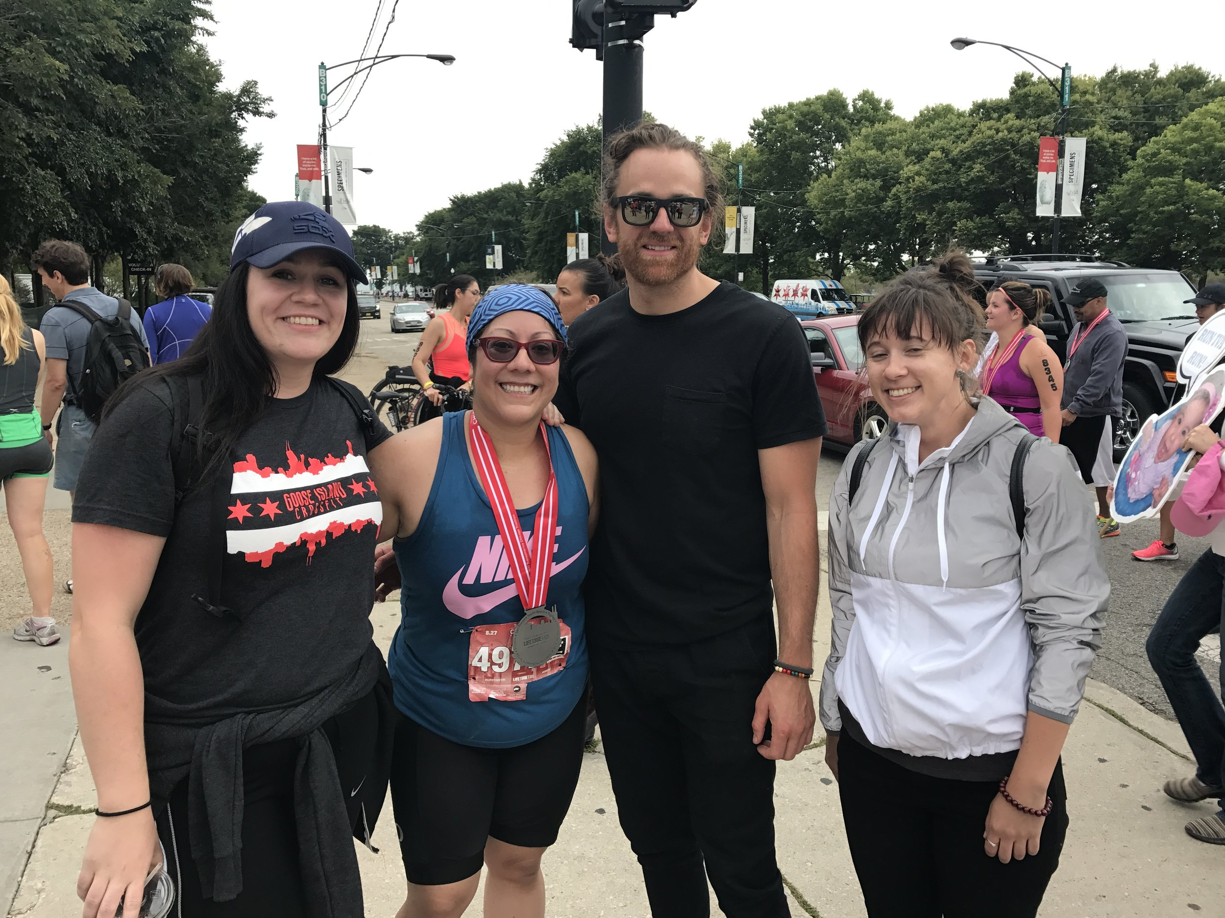 Lluvia completed her first triathlon in the fall of 2017. We couldn't be more proud to have her at GICF.