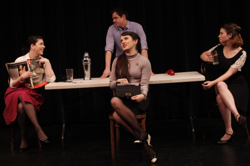 """Photo by Phyllis Bretholtz.  As Kitty in  Not Schwab's  by Robert Caplis, performed at TC Squared Theatre's """" THE NEXT STAGE """" New Playwright's Showcase."""