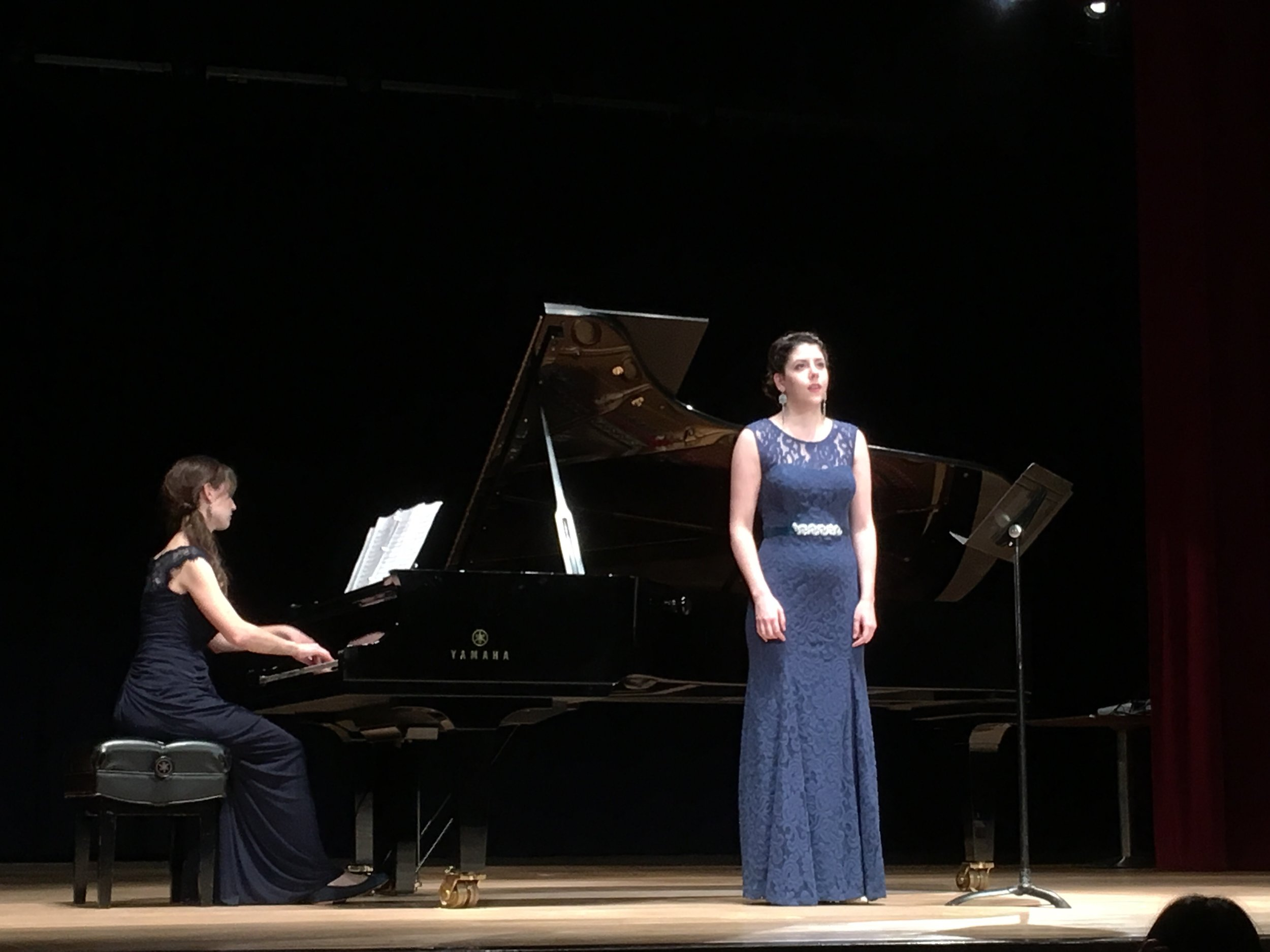 Performing with Jean Elder at the Yamaha Music School of Boston Faculty Recital (2016). Photo by Paul Sayed.