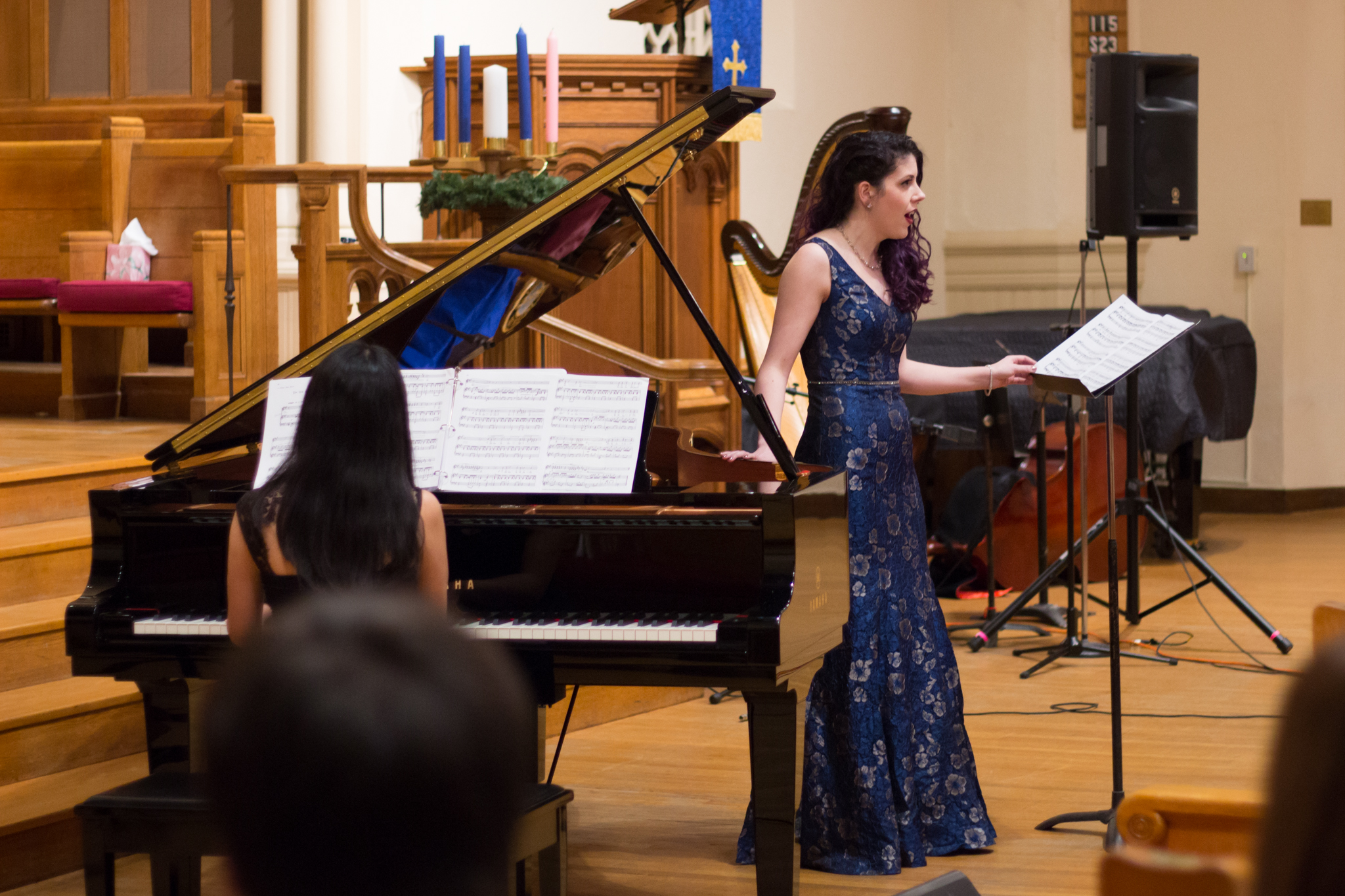 With Mina Osako, piano. Photo by Paul Sayed.