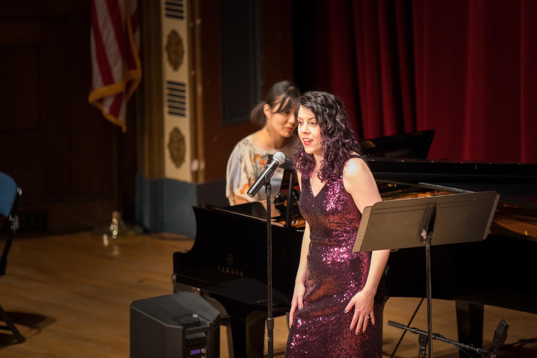 With Yuki Shibata, piano. Photo by Paul Sayed.