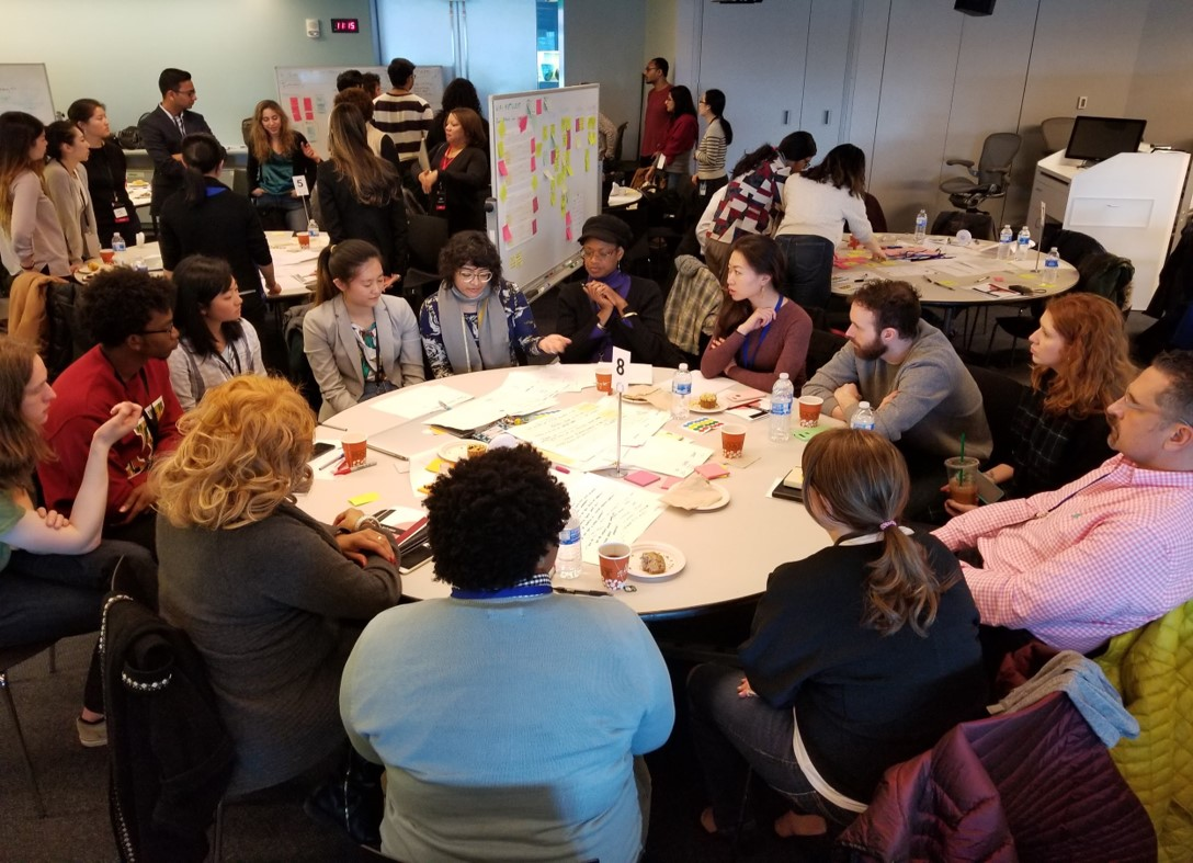 Teams collaborating at 2018 Hack for Inclusion