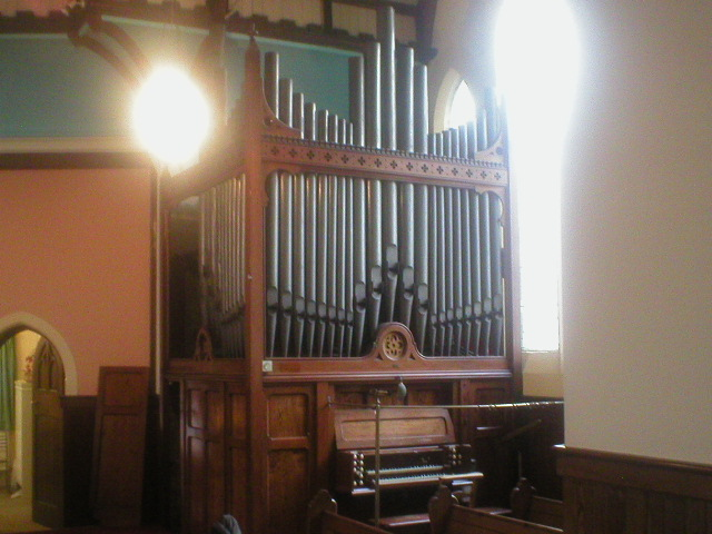 "Pipe organ – Alexander Young 1887, ex Rhyl (North Wales)        Specification;      GREAT SWELL PEDAL    Open Diapason 8 Open Diapason 8 Bourdon 16    Lieblich Gedeckt 8 Hohl Flute 8    Dulciana 8 Salicional 8    Harmonic Flute 4 Voix Celeste 8 TC    Principal 4 Gemshorn 4    Oboe 8      Whilst the specification on paper suggests this is an organ of limited ability, we chose to save it and bring it here to Ireland (having inspected 12 other organs in the area) because it enjoys unusually good tone due to good pipe scaling. It is an extremely satisfying instrument, and could be enlarged if necessary to suit a bigger building as it does have lots of fundamental tone to work from as a datum.    Our high regard for this organ is backed up with a report by the respected UK consultant Mr. Paul Joslin (M Mus, GRSM, LRAM, ARCM). He values the organ at approx. £150,000 Sterling.    It contains the best Bourdon 16 we have ever heard – it provides perfect, good fundamental tone, without any coughing on speech.    The side pipes (mostly dummies anyway) are to be omitted from any future installation as their construction was not suitable for retention.    Compass 56/30, mechanical action to Gt.and Sw., pneumatic action to Ped.    Usual couplers    Tremulant to Swell    Dimensions 2795mm wide x 2482mm deep, excl. pedalboard – allow a further metre for comfort (9'2"" x 8'1 ½""). Height to top of central pipe 5080mm (16'8"").    It remains for sale despite the fact that it very nearly found a home a few times already."