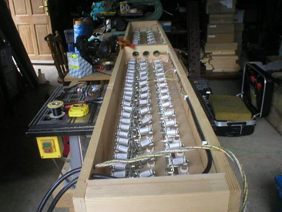 Inside a reed chest.
