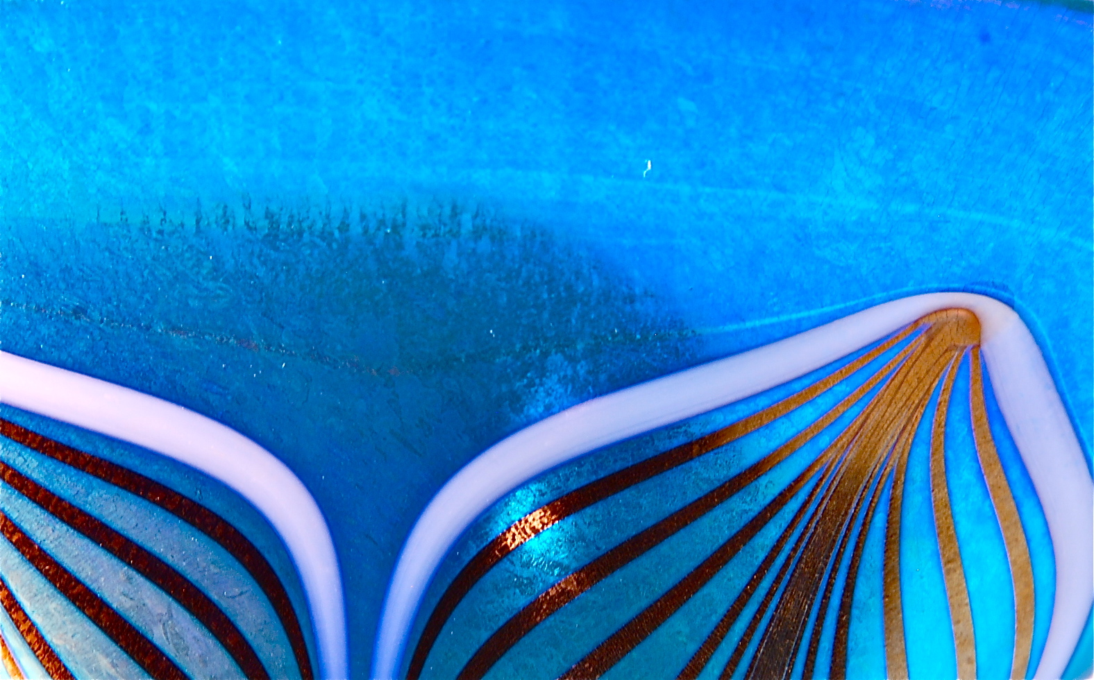Blue Luster close up Feather decoration