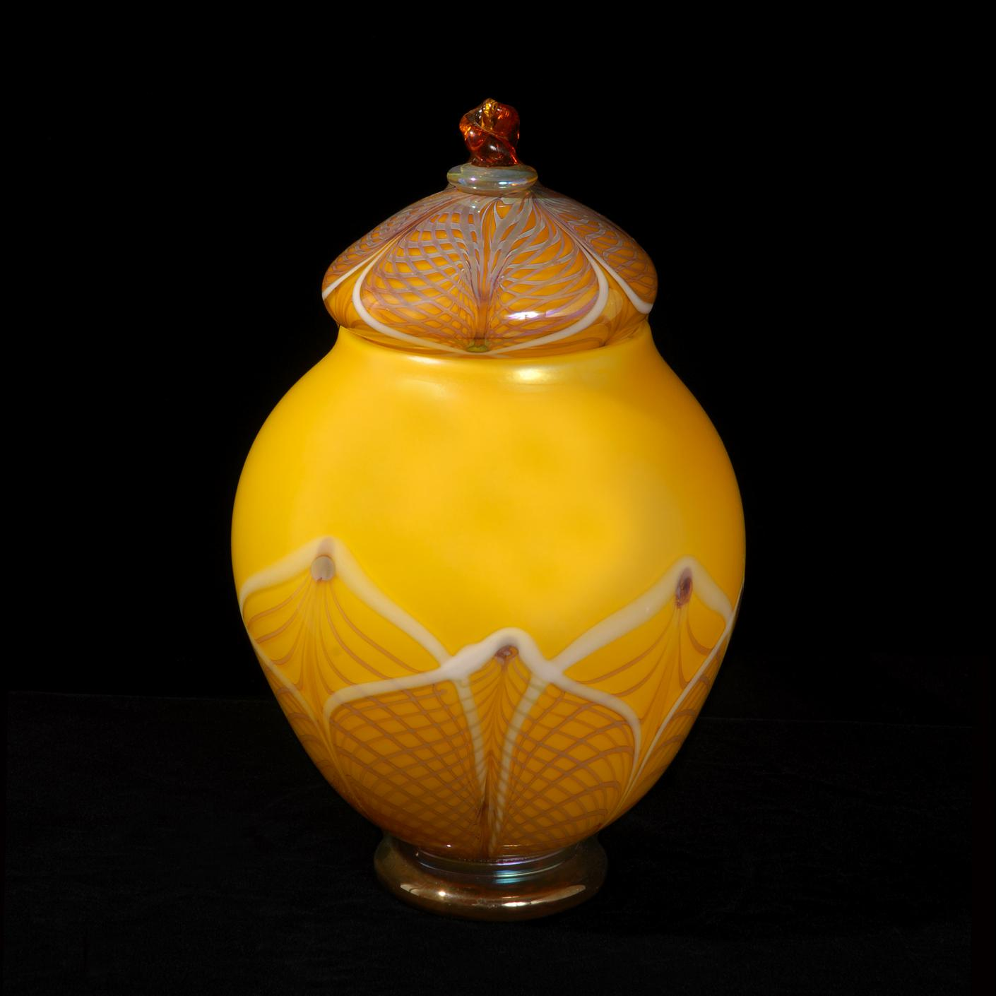 Lemon Lace lidded Jar