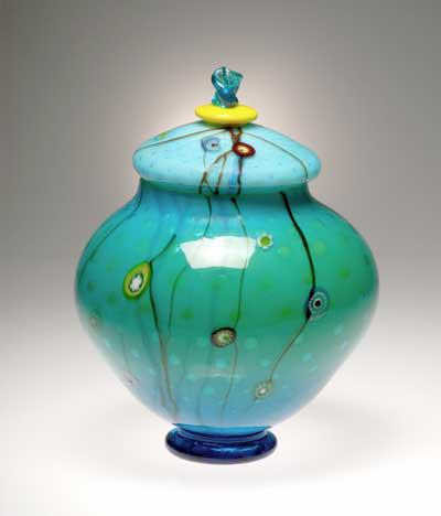 Aquarium lidded jar