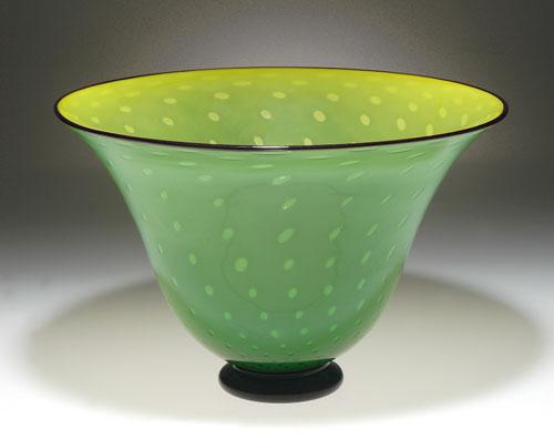 Rainforest Footed Bowl