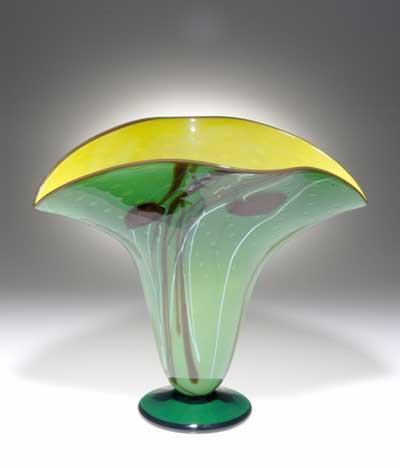 Rainforest Fan vase