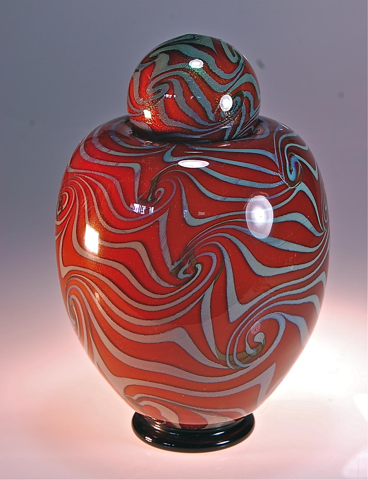 Honey Amber Urn with Wave