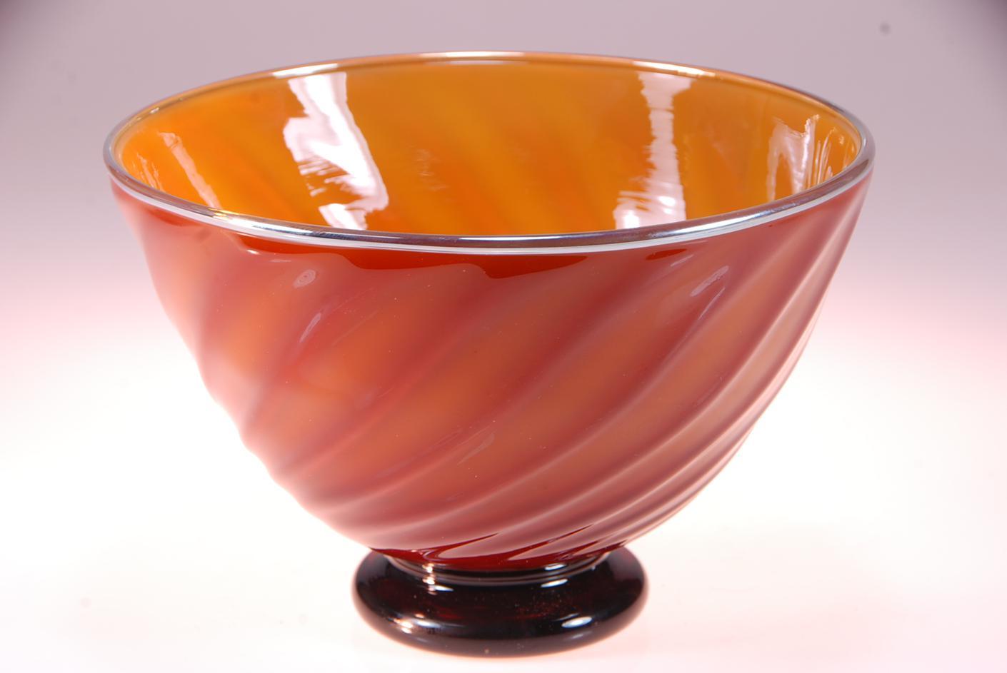 Honey Amber black ceral bowl