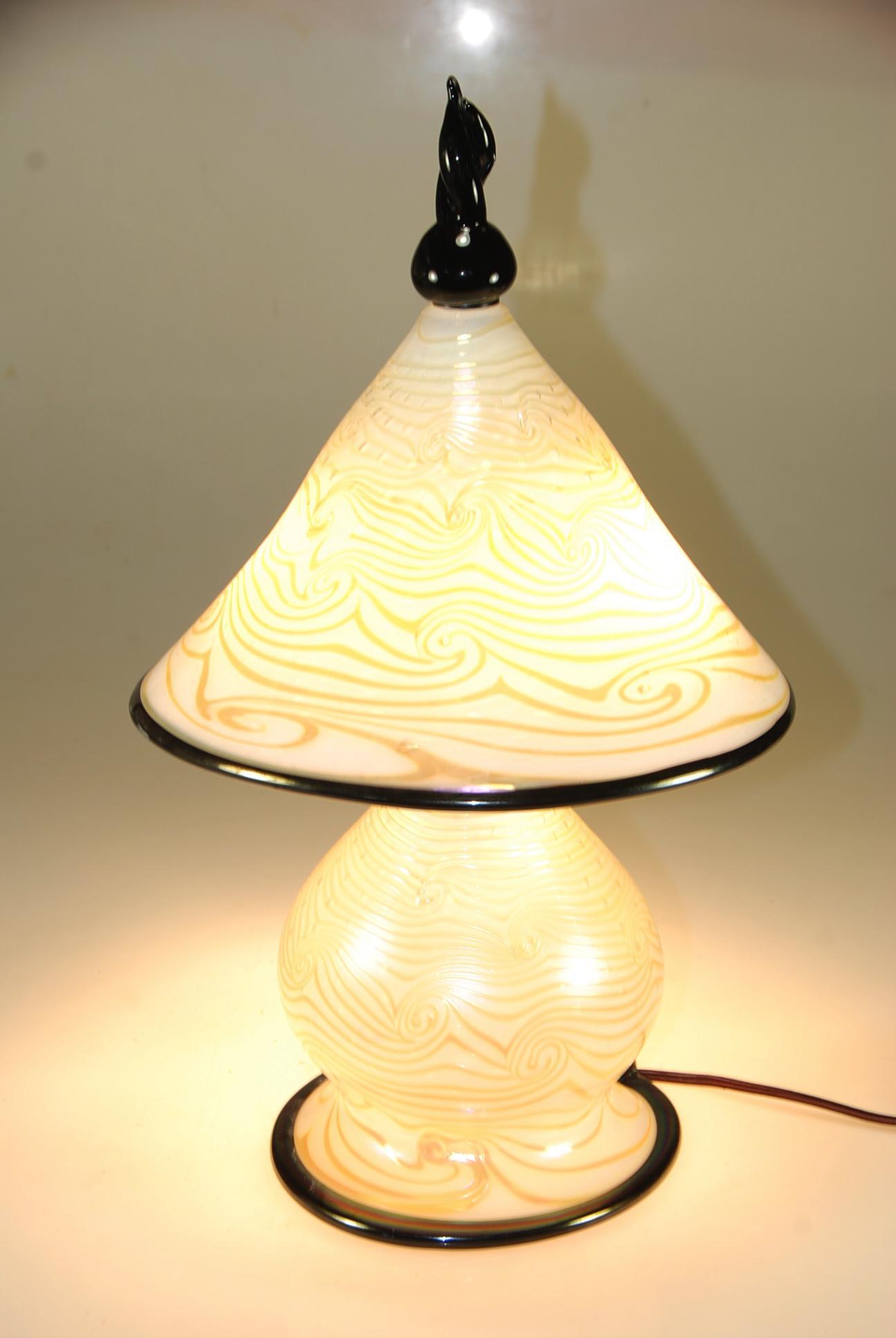 white opal black gem lamp