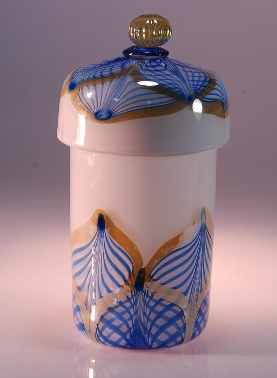 White opal lidded container