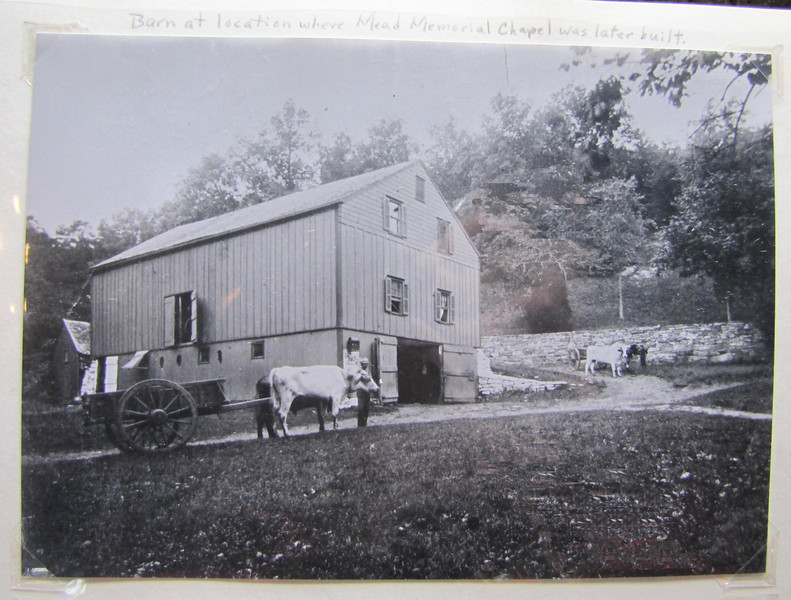 the barn, at the location where Mead Memorial Chapel was later built..jpg