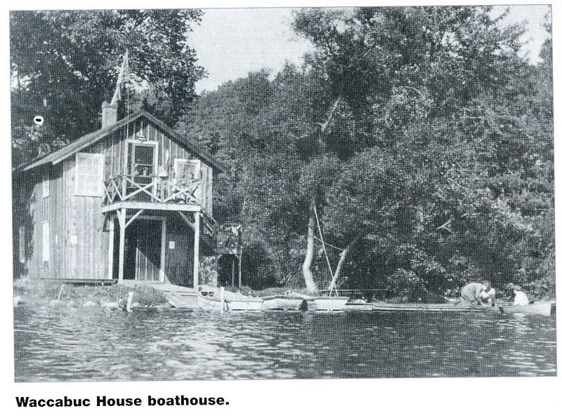 The Waccabuc House boathouse no longer exists; part of the foundation can still be found on the western end of the lake.jpg