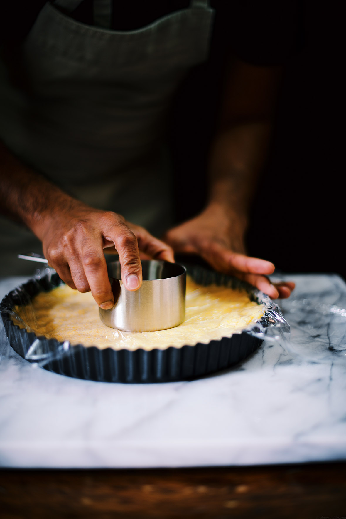 almond polenta tart with sherried plum compote | A Brown Table